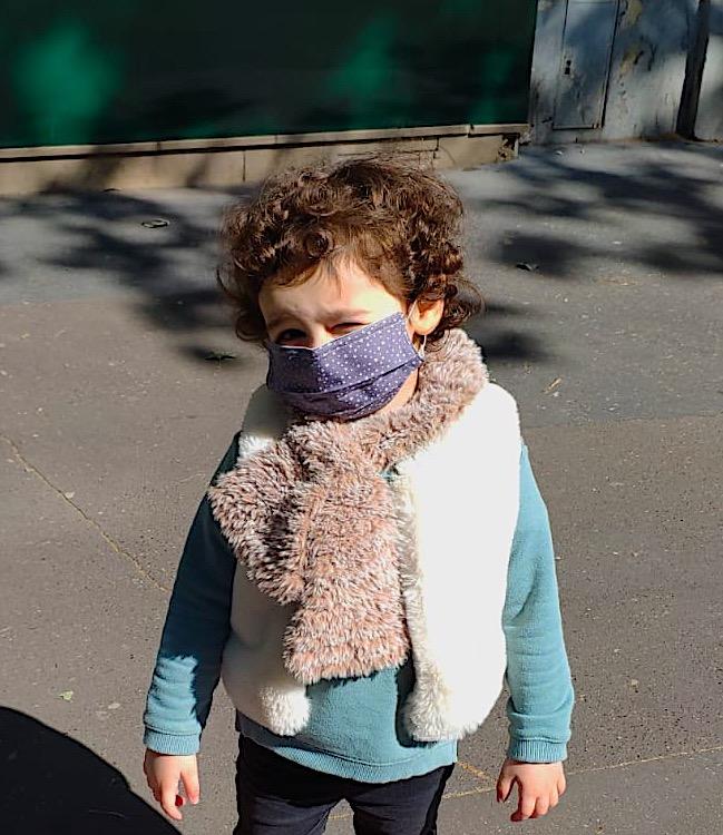 Masque enfant porté