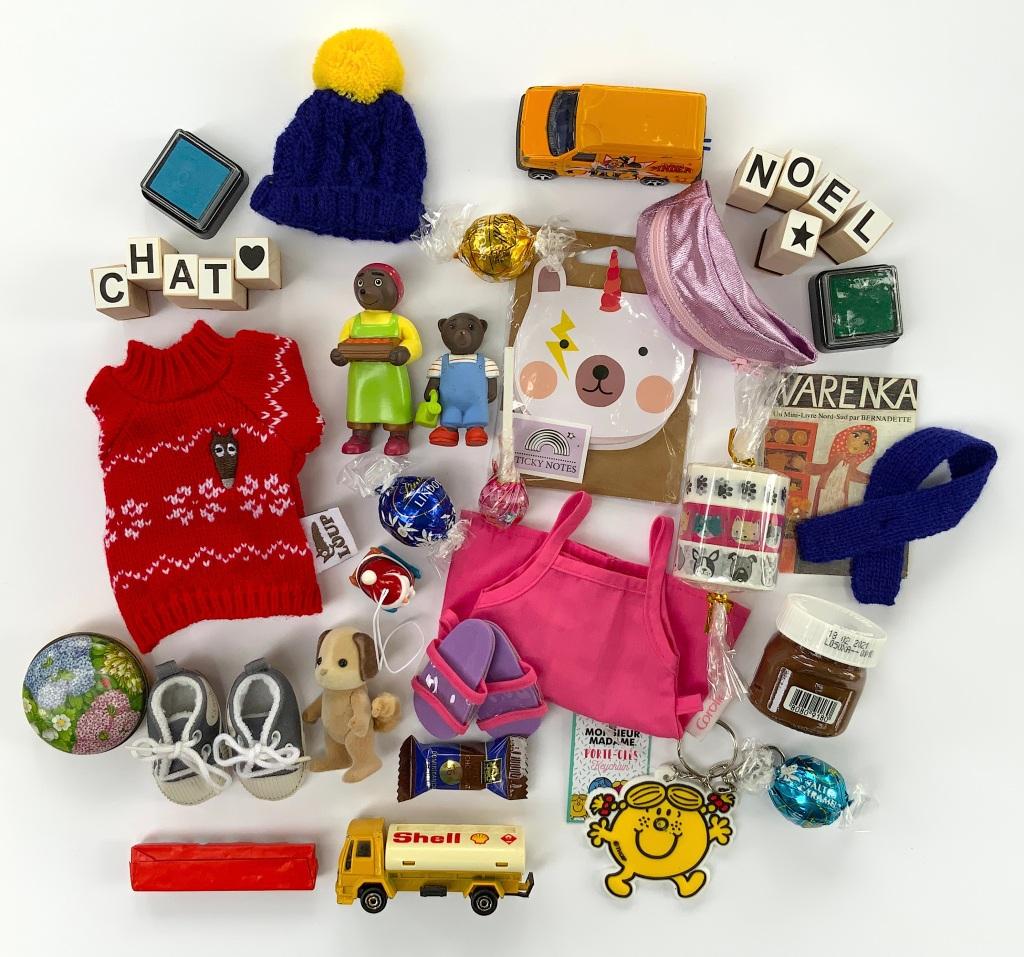 Petits cadeaux pour calendrier de l'Avent