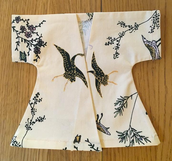 Kimono retourné et repassé