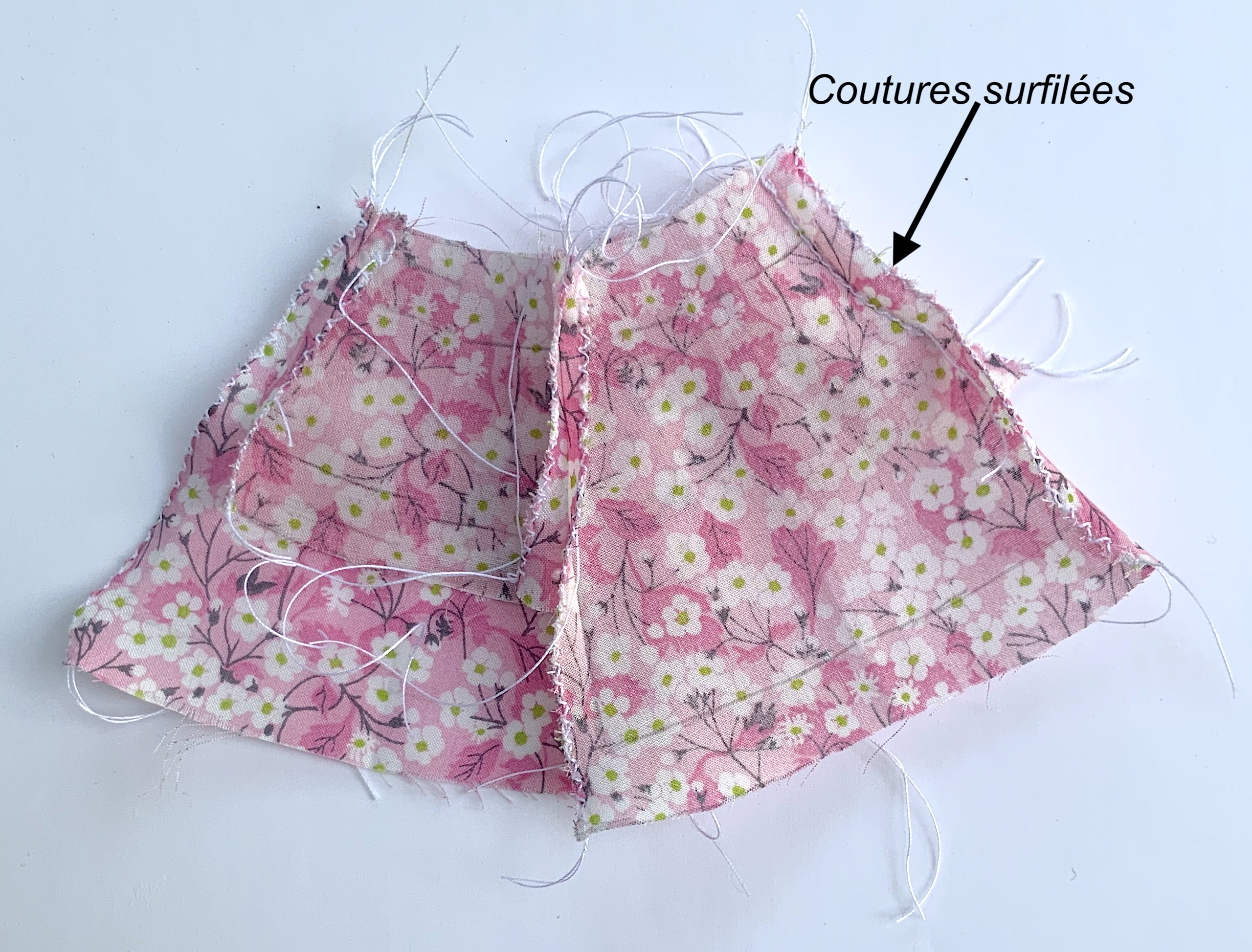 Coutures surfilées